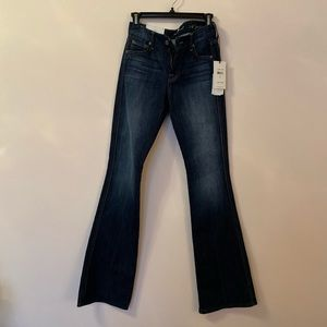"7 for all mankind ""A Pocket"" flare jeans size 26"